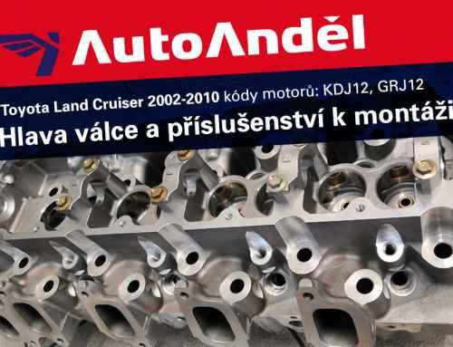 Hlava válce Toyota Land Cruiser a příslušenství kmontáži